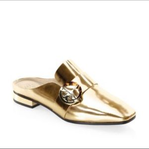 Tory Burch Sydney Backless Loafer Spark Gold NWT